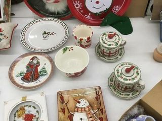 xmas dishes/tins
