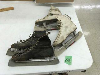 vintage ice skates, w/blade protectors