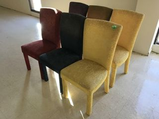 6 colorful chairs