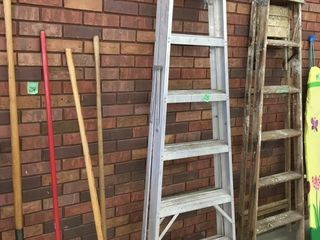 7' metal step ladder