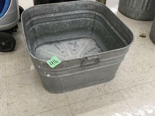 square wash tub