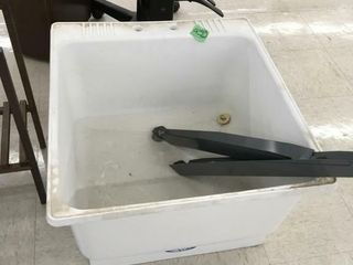 mop sink w/metal legs