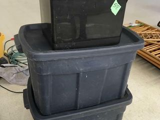 2 lg storage tubs, 1 smaller