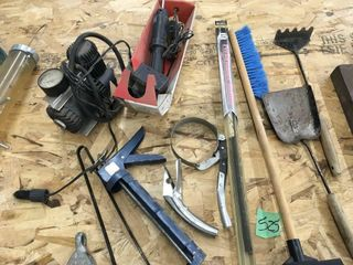 tire compressor, caulking gun, grill tools, more