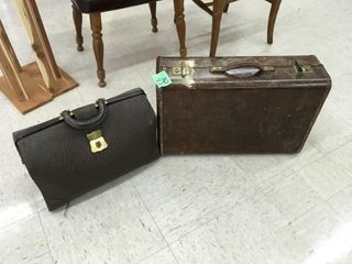 old suitcase, brief case