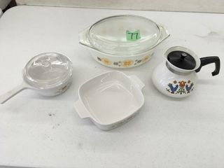 misc corning ware/pyrex dishes