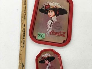 metal coca cola trays