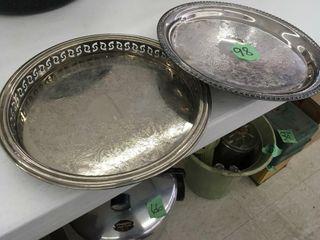 2 silver trays