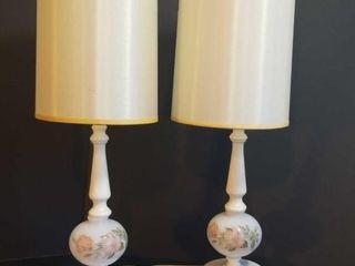Pair Vintage Bedroom Lamps