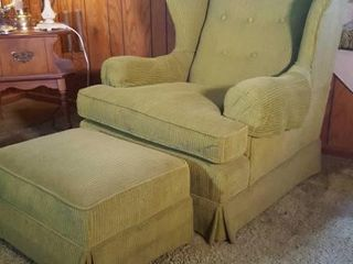 WINGBACK CHAIR & FOOTSTOOL