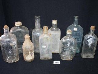 Various Glass Bottles 8 total