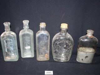 Glass Bottles 5 total  Rawleigh s  Mt  Rushmore