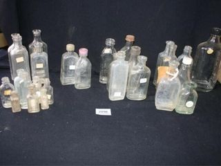 Small Glass Bottles some lids some without