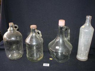 Handled Bottles  3  Tall Vintage Bottle