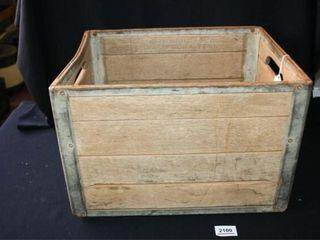 Meadow Wooden Crate w  Metal Bottom