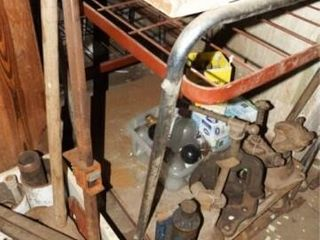 Workbench  likely home built  no contents