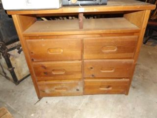 Cabinet with Drawers  39  tall x 42  x 18