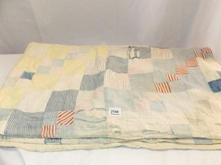 Pieced Quilt   likely Hand Quilted   76  x 70