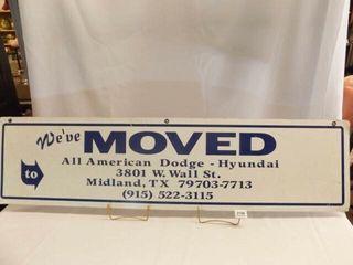 Tin Advertising Sign   Midland  TX
