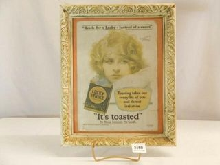 1929 lucky Strike Advertising  Framed