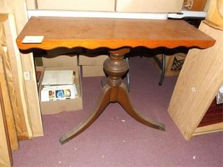 Console Type Wood Table  no contents