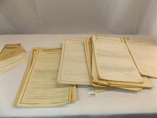 Old legal Documents  most blank
