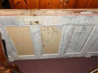 Wood Doors  2 Hinged Together