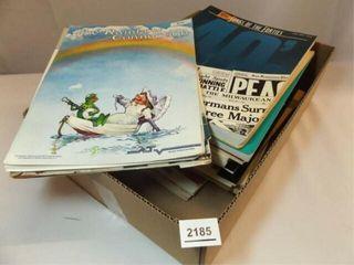 Popular Music Books  Sheet Music   1 Box
