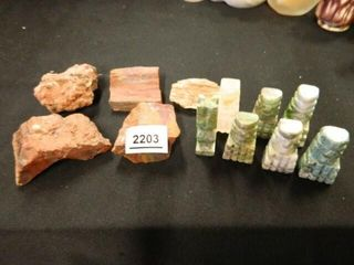 Rocks  Stone Chess Pieces