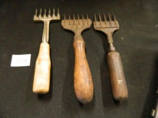 Ice Chippers 3  Wooden Handles