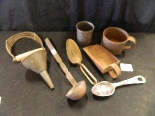 Tin Cups  Scoops  ladle  Funnel