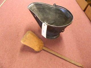 Fireplace Ash Bucket w Shovel