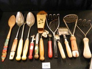 Wooden Handled Kitchen Utensils