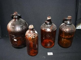 Brown Glass Bottles  1 Gallon  Hi lex  Clorox