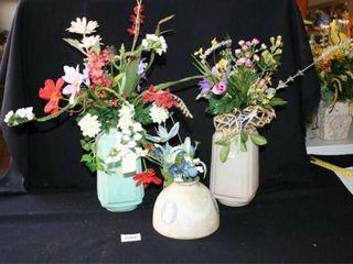 Flower Arrangements in Vintage light Shades