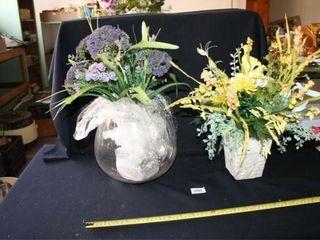Floral Arrangements  Glass Bowl  Yellow