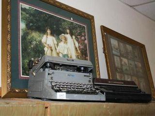 Typewriters  Framed Prints  2  each