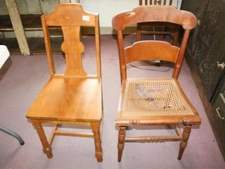 Dining Chairs  Cane Seat in 1 Broken