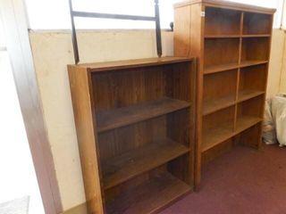 Shelves  2  Wood Shelves   55  x 43  x 10