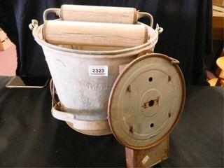 Mop Bucket w wringer  Vintage