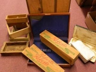 Wooden Crates  Silverware Chest