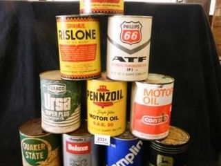 Motor Oil Cans  No Contents   10