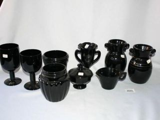 Black Amethyst 9 pieces total