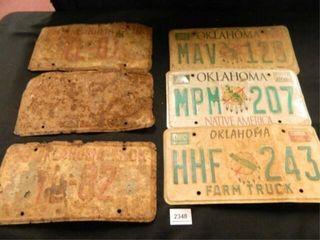 Oklahoma license Plates  6