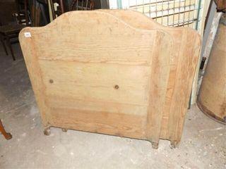 Wood Headboard  Footboard  Twin