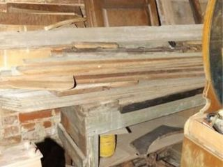 Wood Work Bench and Contents