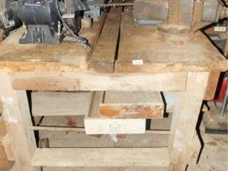Wood Work Bench  Vise  Grinder