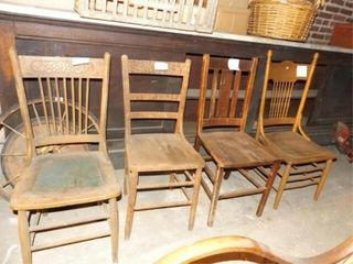 Wood Chairs  4    Variety