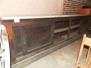 Wood Cabinet with Granite Countertop