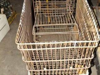 Metal Shopping Carts  3   no contents